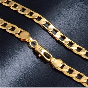 Other - New 18 k yellow gold chain necklace